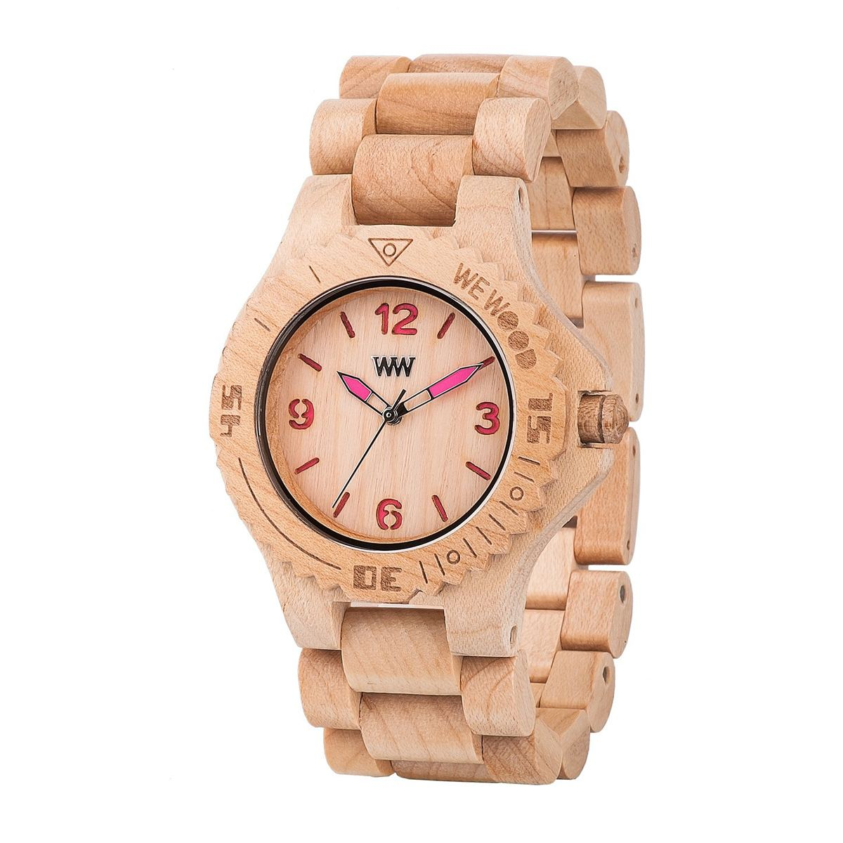 Часовник WeWood Kale Beige/Pink