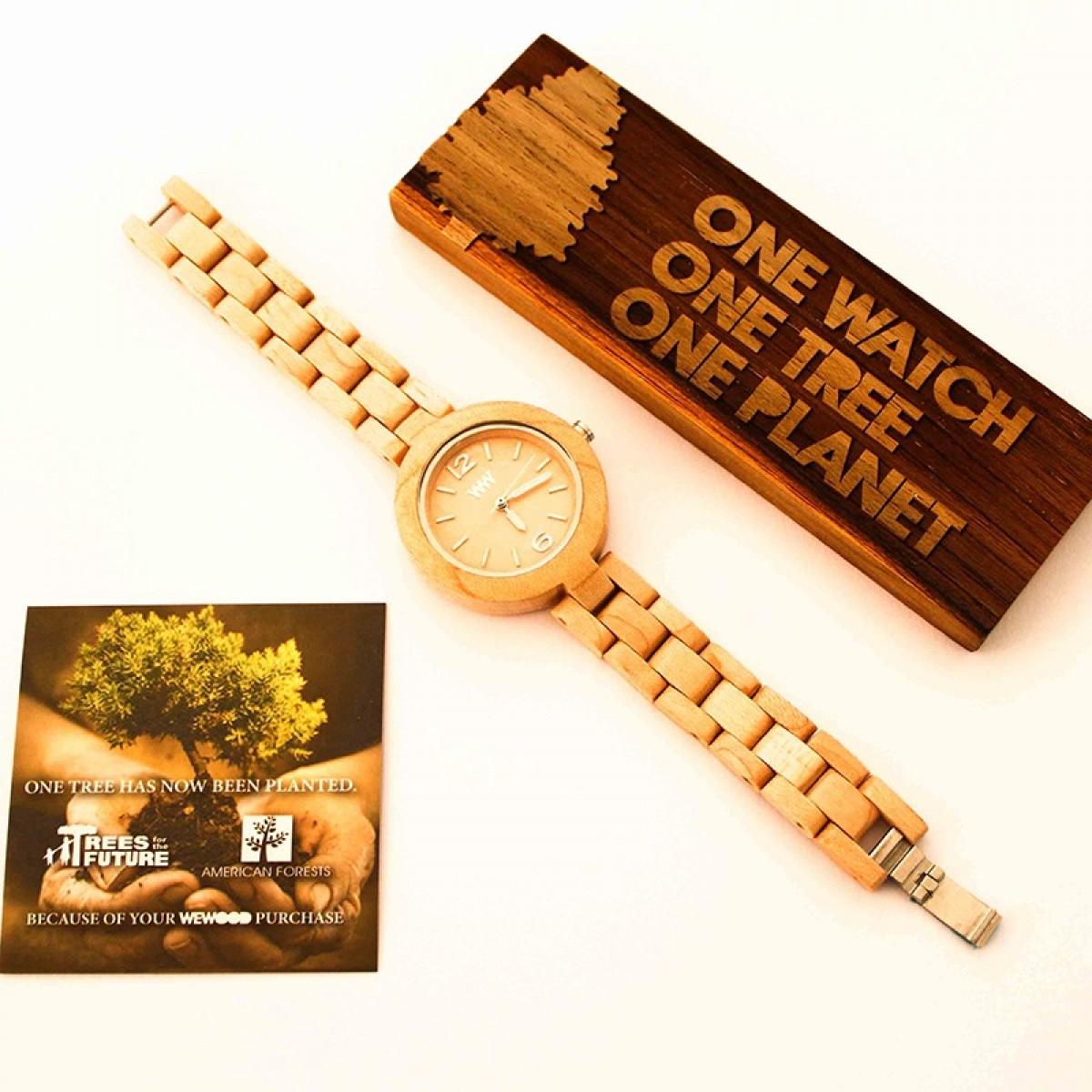 Часовник WeWood Mimosa Beige
