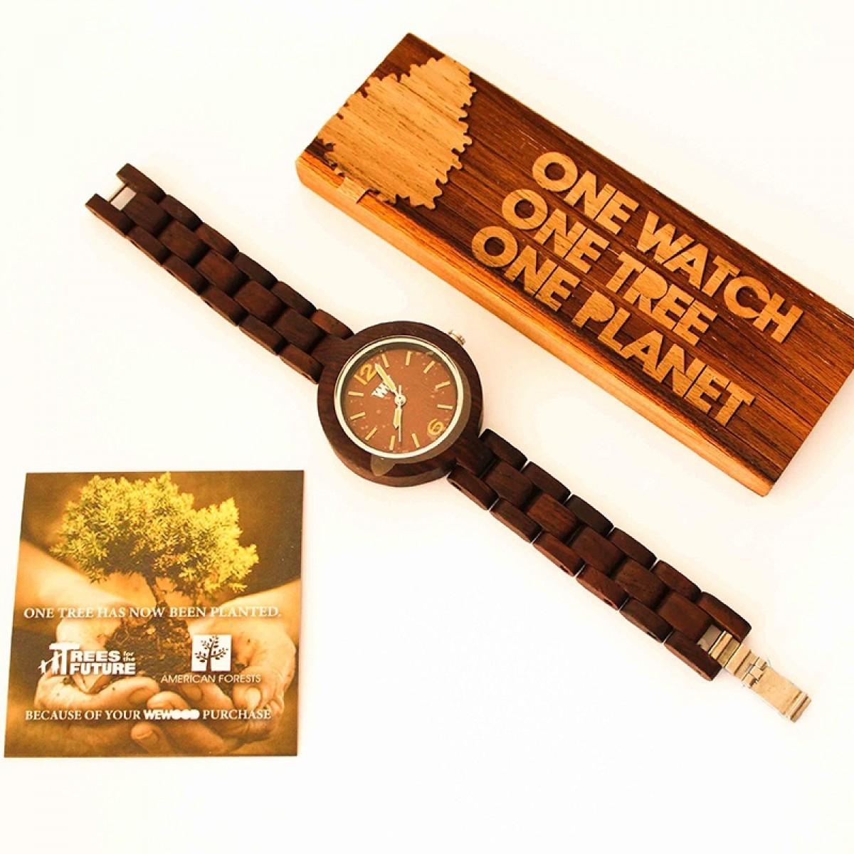 Часовник WeWood Mimosa Chocolate