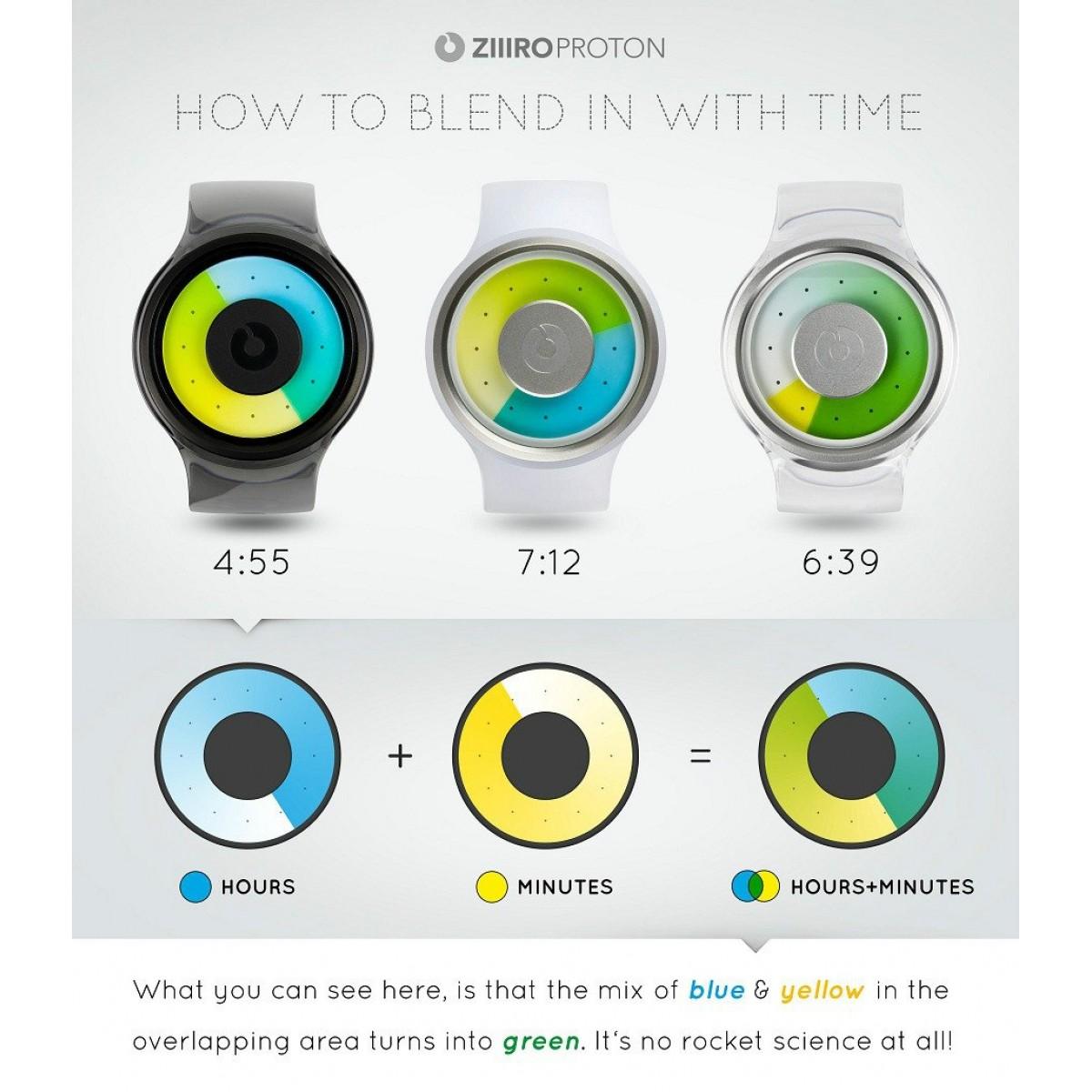 Часовник гривна ZIIIRO Transparent Smoke