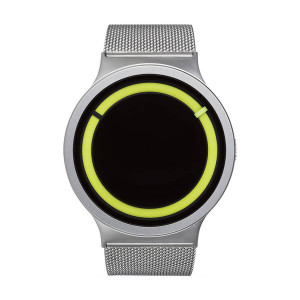 Часовник ZIIIRO Eclipse Steel Chrome Lemon