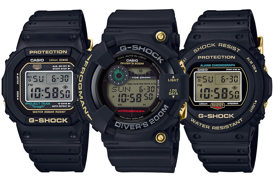 Юбилейни модели часовници Casio - 35 годишнина на G-Shock